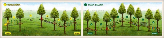 Park Linowy - Trasa żółta i zielona